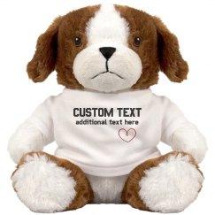 Custom Cute Puppy Gift