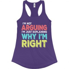 I'm Right Ladies Slim Fit Racerback Tank Top