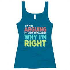 I'm Right Junior Long Length Tank