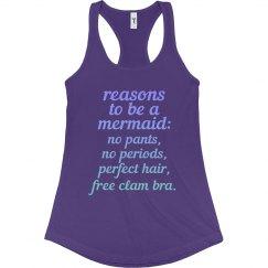 Reasons to be a Mermaid Ladies Slim Racerback Tank