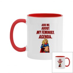 Feminist Agenda Two Tone Coffee Mug