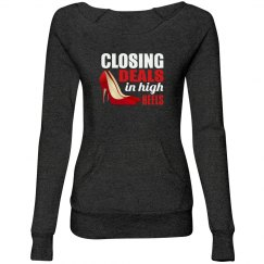Closing Ladies Maniac Eco-Fleece Wideneck Sweatshirt
