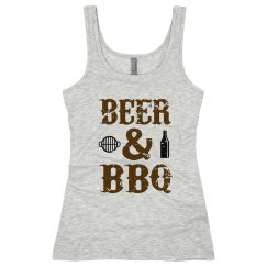 Beer and BBQ Junior Long Length Tank