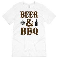 Beer and BBQ Unisex Jersey Tee