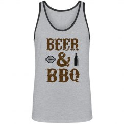 Beer & BBQ Unisex Tank