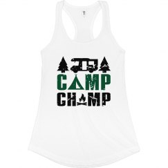 Camp Champ Slim Racerback Tank
