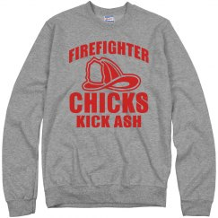 Firefighter Chicks Kick Ash Unisex Cotton Sweatshirt