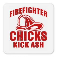 Firefighter Chicks Kick Ash Magnet