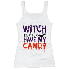 Witch Better Have My Candy Junior Long Length Tank