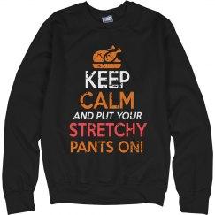 Put Your Stretchy Pants On Unisex Cotton Sweatshirt