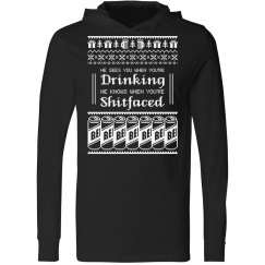 Drinking Shitfaced Christmas Hoodie