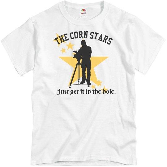 7550578b1 Corn Stars Cornhole Team Shirts Unisex Basic Promo T-Shirt