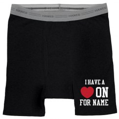 I Have A Heart On Funny Boxers
