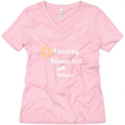 Ladies Pink Vitamin Sea t