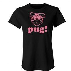 Chocolate Pink Pug Wmns