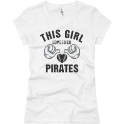 Loves her Pirates