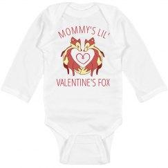 Mommy's Valentine's Day Fox Bodysuit