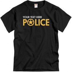 Custom Design Police Shirt
