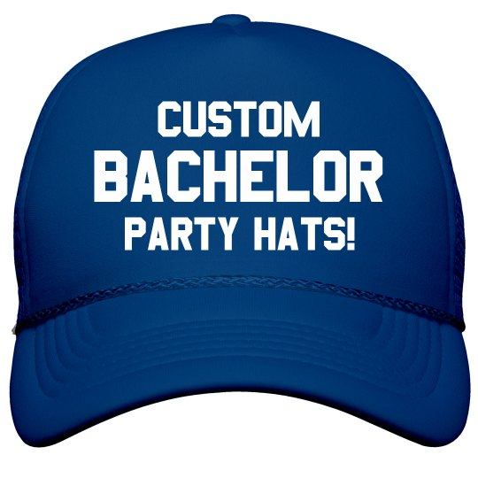 Custom Bachelor Party Accessory Film and Foil Solid Color Snapback Trucker  Hat bfb4f1b3e3b5
