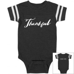 Custom Thankful Thanksgiving Onesie