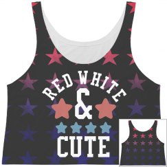 Red White & Cute Star Pattern