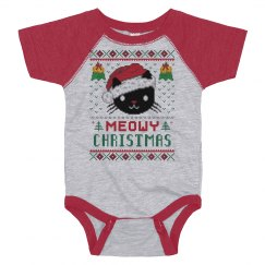 Meow Christmas Baby Onesie