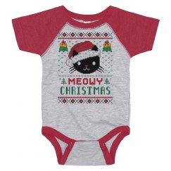 Meow Christmas Baby Bodysuit
