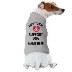 Custom Name Here Emotional Support Dog