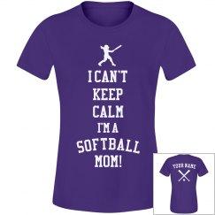 Softball Mom Keep Calm