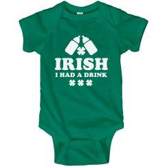 Lil' Funny Irish St Patty Baby