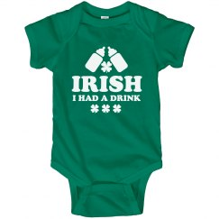 Lil' Funny Irish St Patty Baby