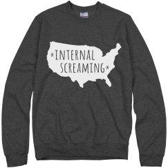Funny America Screaming Internally