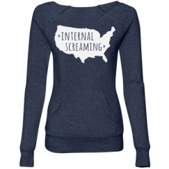 Ladies Maniac Eco-Fleece Wideneck Sweatshirt