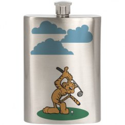 Tiger/Golf Flask