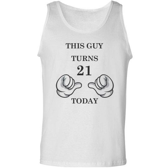 21st Birthday Shirt Men