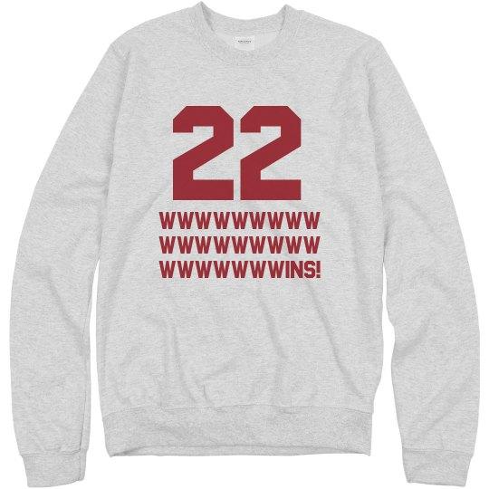 22 Wins Cleveland Sweatshirt