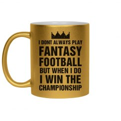 Fantasy Champion Golden Mug
