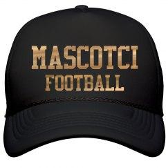 Metallic Gold Mascotci Football Fan