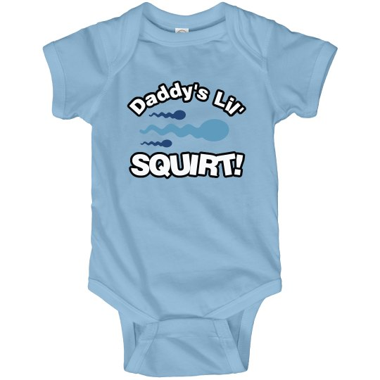 89eab1a2e Daddy s Lil  Squirt Infant Fine Jersey Bodysuit