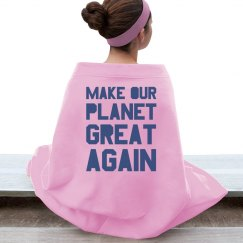 Make our planet great again blue blanket.