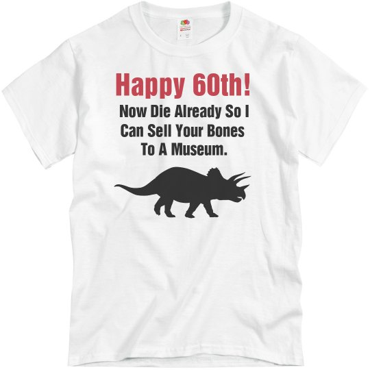 Happy 60th Birthday Unisex Basic Promo T Shirt