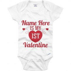 Baby First Valentine Name Here