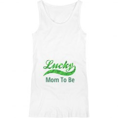 Lucky Mom To Be St. Patricks Day Maternity Top
