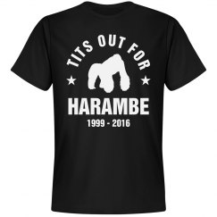 Tits Out For Harambe RIP Shirt