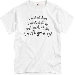 I won't grow up!