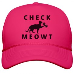 Check Meowt Neon Hat