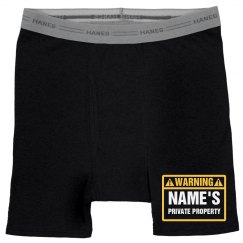Custom Private Property Boxers