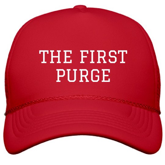 0a56006b0b5cf America s First Purge Hat Film and Foil Solid Color Snapback Trucker Hat