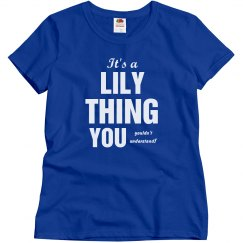 It's a Lily thing