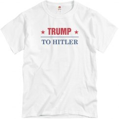 Red And Blue Trump To Hitler